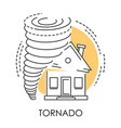 tornado isolated icon natural disaster and broken vector image