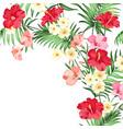 Tropical flower garland