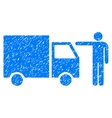 Truck Customer Grainy Texture Icon vector image vector image
