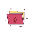 upload folder icon dersign vector image