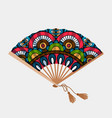vintage floral ornament asian fan vector image vector image