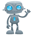 waving robot vector image vector image