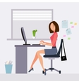 Woman working in office vector image vector image