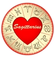 zodiac sign Sagittarius for lovers on Valentine vector image vector image
