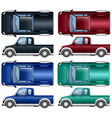 Different color of pick up trucks vector image