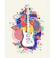 Electric guitar icon concept music color shape vector image