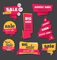 Set of sale banners in origami style vector image