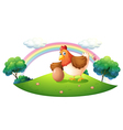 A chicken with an egg vector image vector image