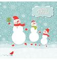 a family three snowmen vector image