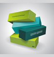 abstract composition 3d boards vector image vector image