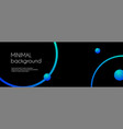 abstract long banner black minimal cosmic vector image vector image