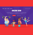 amazing show landing page template circus vector image vector image