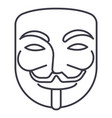 anonymousmask carnivalhacker line icon vector image vector image