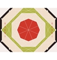 background with sushi in the form of diamond vector image vector image