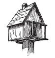 birdhouse vintage vector image vector image