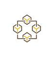 blockchain creative icon block chain vector image vector image