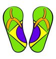 brazilian flip flops icon cartoon vector image