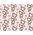 Candy heart pattern vector image vector image
