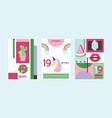 cartoon girlish accessories lipstick vector image
