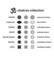 chakra pictograms set chakras used in hinduism vector image vector image