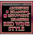 Classic Red Wine Graphic Style vector image
