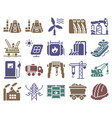 collection monochromatic pixel icons vector image