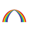 colorful realistic multicolored rainbow natural vector image vector image