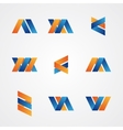 Colorful set of abstract creative logos vector image