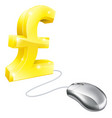 computer mouse pound concept vector image vector image
