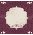 Decorative card template vector image vector image