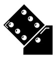 dice icon simple black style vector image vector image
