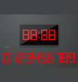 digital watch clock electronic numbers set vector image