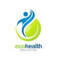 eco health abstract fitness logo vector image