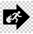 fire exit icon vector image vector image