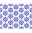 flower blue pattern vector image