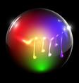 flowing painted sphere vector image vector image