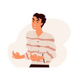 furious angry man shouting and screaming with rage vector image vector image