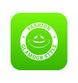 glamour hat icon green vector image vector image