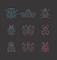 gradient bug icons vector image vector image