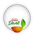 green diwali concept background with text space vector image