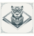 Halftone hipster tiger with black Dots vector image vector image