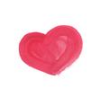 hand drawn watercolor heart vector image vector image