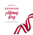happy denmark national day template design vector image vector image