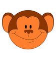 happy monkey on white background vector image vector image