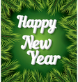 Happy New Year card with white text vector image