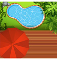 Hawkeye view of swimming pool vector image