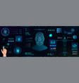 hi-tech biometric identification vector image vector image