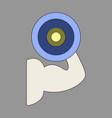 icon in flat design logo bicep vector image vector image