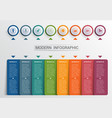 infographics design template color buttons and 8 vector image vector image