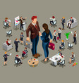 isometric people in business suit vector image vector image